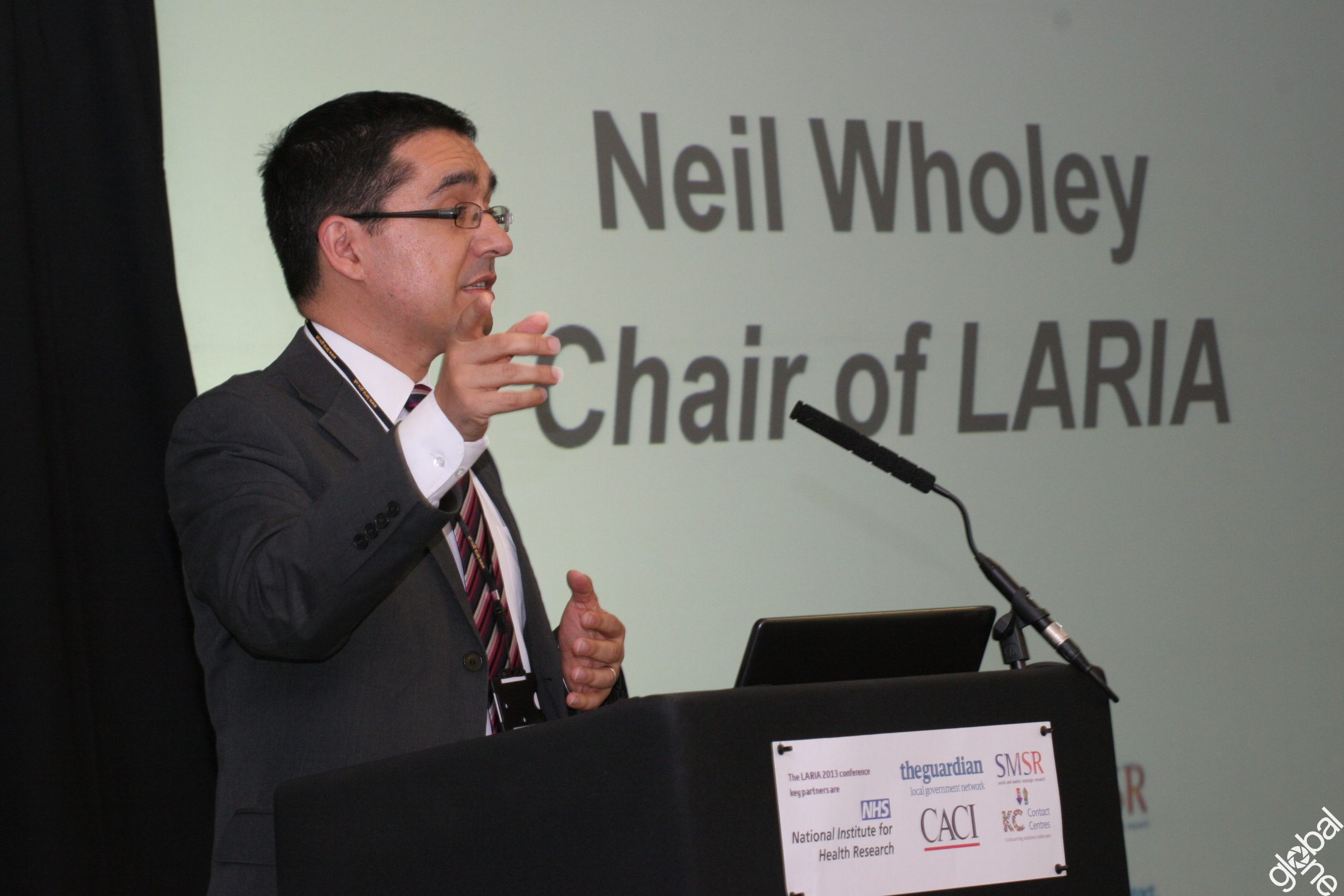 Neil Wholey, Chair of LARIA