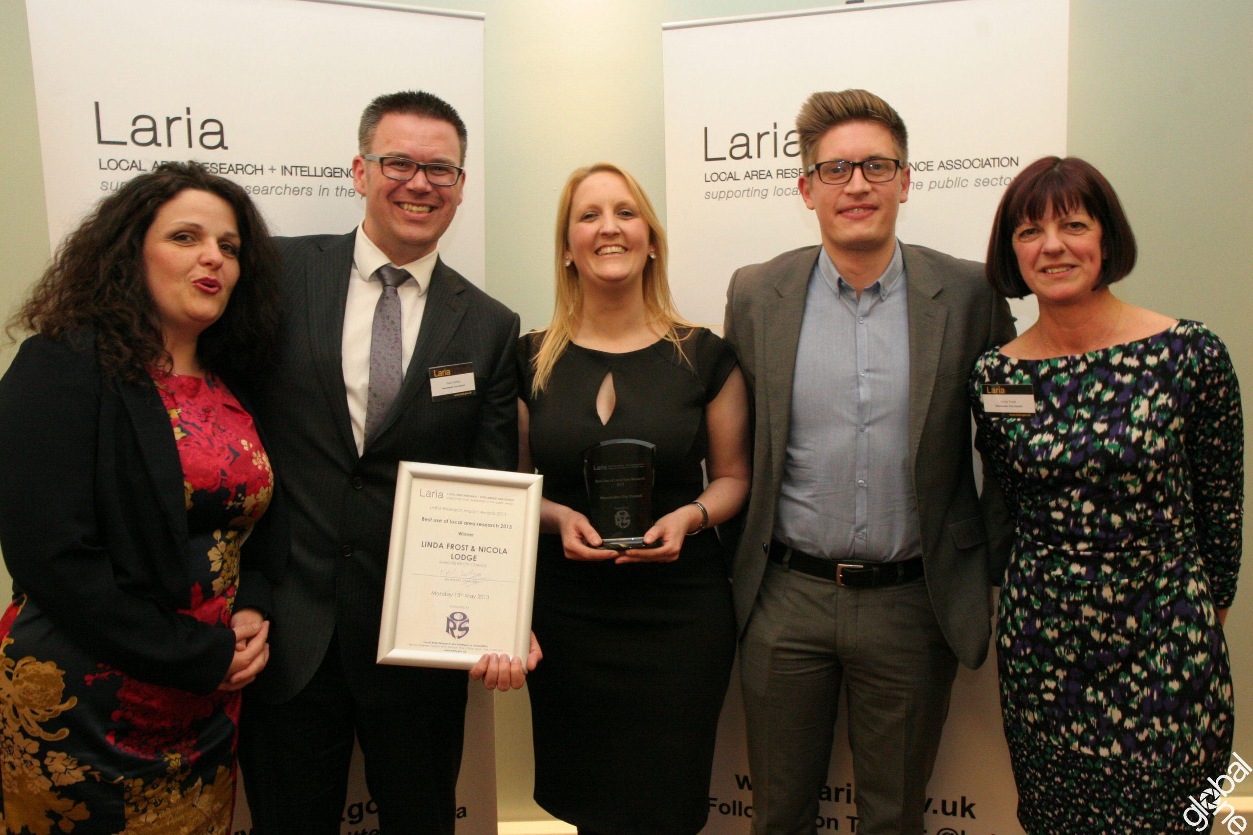 Manchester City Council winning a LARIA award