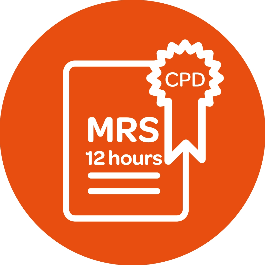 MRS CPD logo 12 hours
