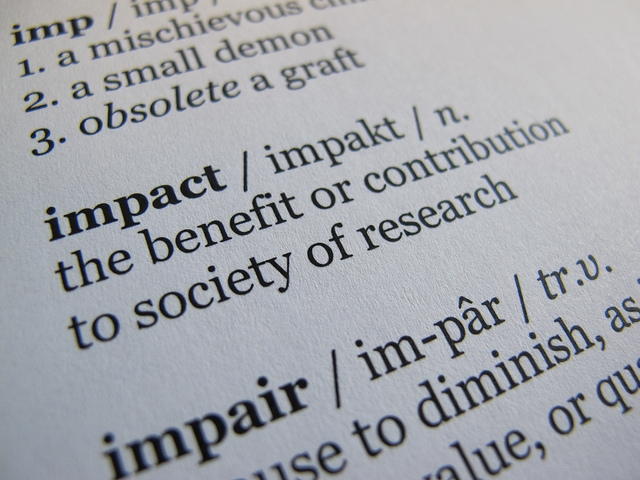 Impact: The benefit or contribution to society of research
