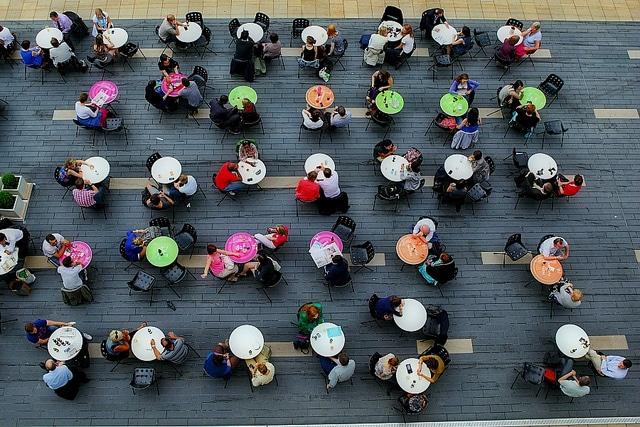 Conversations at tables